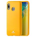 Чехол Mercury Goospery Jelly Case для Samsung Galaxy A30 (желтый, гелевый)