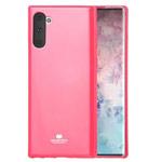 Чехол Mercury Goospery Jelly Case для Samsung Galaxy Note 10 (малиновый, гелевый)