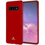 Чехол Mercury Goospery Jelly Case для Samsung Galaxy S10 (красный, гелевый)