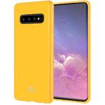 Чехол Mercury Goospery Jelly Case для Samsung Galaxy S10 (желтый, гелевый)