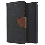 Чехол Mercury Goospery Fancy Diary Case для Samsung Galaxy A70 (черный/коричневый, винилискожа)