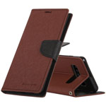 Чехол Mercury Goospery Fancy Diary Case для Samsung Galaxy S10 (коричневый, винилискожа)