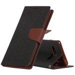 Чехол Mercury Goospery Fancy Diary Case для Samsung Galaxy S10 plus (черный/коричневый, винилискожа)