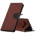 Чехол Mercury Goospery Fancy Diary Case для Samsung Galaxy S10 plus (коричневый, винилискожа)