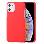Чехол Mercury Goospery Soft Feeling для Apple iPhone 11 (красный, силиконовый)