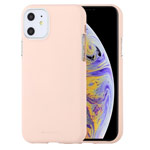 Чехол Mercury Goospery Soft Feeling для Apple iPhone 11 (бежевый, силиконовый)