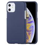 Чехол Mercury Goospery Soft Feeling для Apple iPhone 11 (синий, силиконовый)