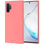 Чехол Mercury Goospery Soft Feeling для Samsung Galaxy Note 10 plus (розовый, силиконовый)