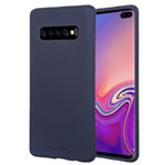 Чехол Mercury Goospery Soft Feeling для Samsung Galaxy S10 plus (синий, силиконовый)