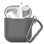 Чехол Synapse Buckle Case для Apple AirPods (темно-серый, силиконовый)