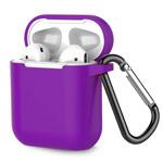 Чехол Synapse Buckle Case для Apple AirPods (фиолетовый, силиконовый)