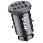 Зарядное устройство Baseus Grain Car Charger универсальное (автомобильное, 3.1A, 2 x USB, черное)