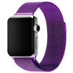 Ремешок для часов Yotrix Milanese Band для Apple Watch 42/44 мм (фиолетовый, стальной)
