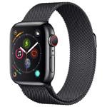 Ремешок для часов Yotrix Milanese Band для Apple Watch 38/40 мм (черный, стальной)