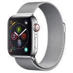 Ремешок для часов Yotrix Milanese Band для Apple Watch 38/40 мм (серебристый, стальной)