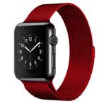Ремешок для часов Yotrix Milanese Band для Apple Watch 38/40 мм (красный, стальной)
