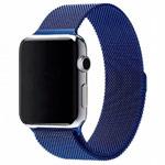 Ремешок для часов Yotrix Milanese Band для Apple Watch 38/40 мм (синий, стальной)