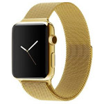 Ремешок для часов Yotrix Milanese Band для Apple Watch 38/40 мм (золотистый, стальной)