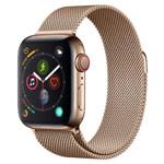 Ремешок для часов Yotrix Milanese Band для Apple Watch 42/44 мм (светло-золотистый, стальной)