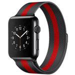 Ремешок для часов Yotrix Milanese Band для Apple Watch 38/40 мм (красный/черный, стальной)
