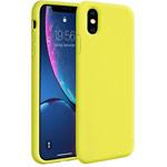 Чехол Yotrix LiquidSilicone для Apple iPhone XS max (лимонный, гелевый)