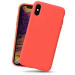 Чехол Yotrix LiquidSilicone для Apple iPhone XS (коралловый, гелевый)