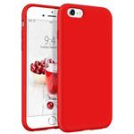 Чехол Yotrix LiquidSilicone для Apple iPhone 6S (красный, гелевый)