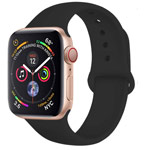 Ремешок для часов Yotrix Silicone Band для Apple Watch 42/44 мм (черный, силиконовый)