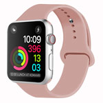 Ремешок для часов Yotrix Silicone Band для Apple Watch 42/44 мм (бежево-розовый, силиконовый)