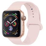 Ремешок для часов Yotrix Silicone Band для Apple Watch 38/40 мм (светло-розовый, силиконовый)