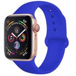 Ремешок для часов Yotrix Silicone Band для Apple Watch 38/40 мм (синий, силиконовый)