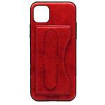 Чехол Coblue Creative Case для Apple iPhone 11 pro max (красный, кожаный)