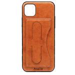 Чехол Coblue Creative Case для Apple iPhone 11 pro max (коричневый, кожаный)