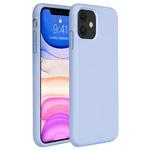 Чехол Yotrix LiquidSilicone для Apple iPhone 11 (голубой, гелевый)
