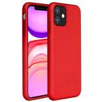Чехол Yotrix LiquidSilicone для Apple iPhone 11 (красный, гелевый)