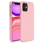 Чехол Yotrix LiquidSilicone для Apple iPhone 11 (светло-розовый, гелевый)
