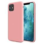 Чехол Yotrix LiquidSilicone для Apple iPhone 11 (розовый, гелевый)