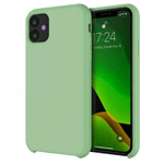 Чехол Yotrix LiquidSilicone для Apple iPhone 11 (фисташковый, гелевый)