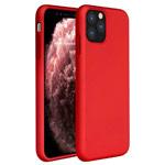 Чехол Yotrix LiquidSilicone для Apple iPhone 11 pro (красный, гелевый)
