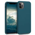 Чехол Yotrix LiquidSilicone для Apple iPhone 11 pro (полуночно-синий, гелевый)