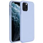 Чехол Yotrix LiquidSilicone для Apple iPhone 11 pro max (голубой, гелевый)