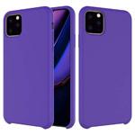 Чехол Yotrix LiquidSilicone для Apple iPhone 11 pro max (фиолетовый, гелевый)