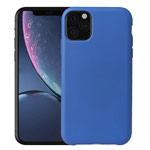 Чехол Yotrix LiquidSilicone для Apple iPhone 11 pro max (синий, гелевый)
