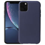 Чехол Yotrix LiquidSilicone для Apple iPhone 11 pro max (темно-синий, гелевый)