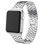 Ремешок для часов Yotrix Metal Scales для Apple Watch 38/40 мм (серебристый, стальной)