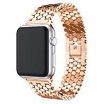 Ремешок для часов Yotrix Metal Scales для Apple Watch 38/40 мм (розово-золотистый, стальной)