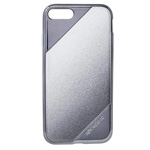 Чехол X-doria Revel Lux Case для Apple iPhone 7 plus (Silver Glitter, пластиковый)