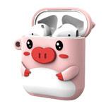 Чехол X-doria Riki Case для Apple AirPods (розовый, силиконовый)