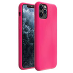 Чехол Yotrix LiquidSilicone для Apple iPhone 11 pro max (малиновый, гелевый)