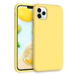 Чехол Yotrix LiquidSilicone для Apple iPhone 11 pro max (желтый, гелевый)